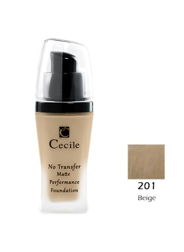 Cecile No Transfer Matte Perf. Foundation  201 Ten